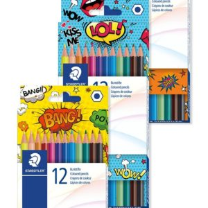 STAEDTLER COLOURED PENCIL 12ct CARDBOARD BOX (3 MOTIVES)